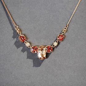Mali Garnets, Champage Diamonds set in Rose Gold, Bespoke