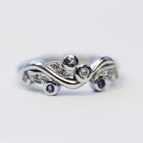 Bespoke Amethyst and Diamond Ring
