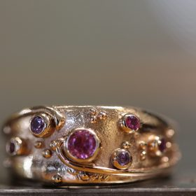 Rose Gold and Pink sapphires