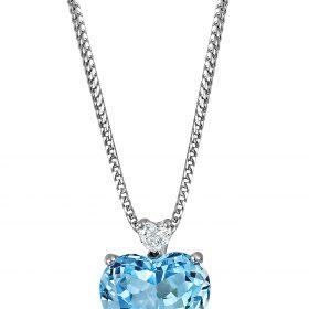 Heart shaped Diamond and Topaz
