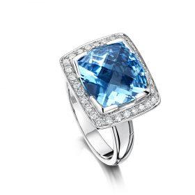Bespoke Topaz and Diamond ring