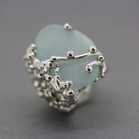 Silver Sea Glass Ring