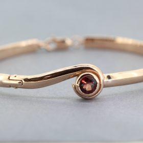 Rose gold garnet bangle