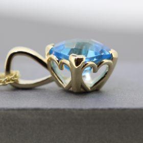 Blue topaz in Heart setting