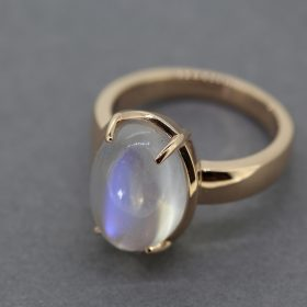 Rose gold and Blue Moonstone